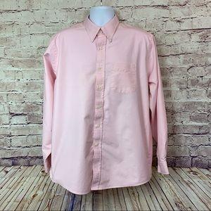 L.L. Bean Mens Pink Button Front Shirt